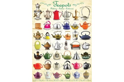 EuroGraphics 6000-0599 - Teapots - 1000 db-os puzzle