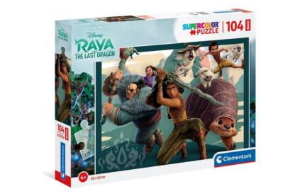 Clementoni 23750 - Raya és az utolsó sárkány - 104 db-os Szuper színes puzzle