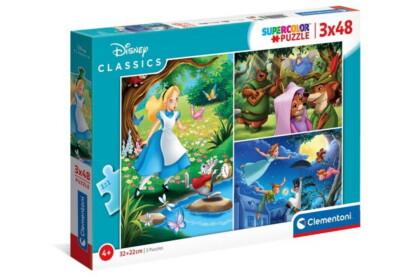 Clementoni 25267 - Disney Klasszikusok - 3 x 48 db-os Szuper Színes puzzle