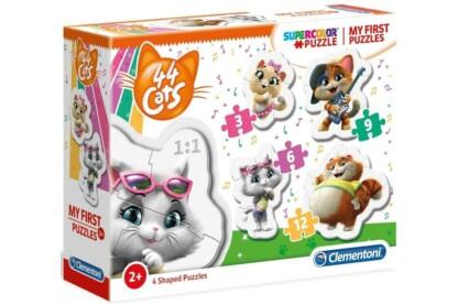 Clementoni 20812 - Bébi sziluett puzzle - 44 csacska macska - 3,6,9,12 db-os puzzle