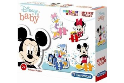 Clementoni 20819 - Bébi sziluett puzzle - Mickey és barátai - 3,6,9,12 db-os puzzle