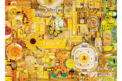 Cobble Hill 80148 - The Rainbow Project - Yellow - 1000 db-os puzzle