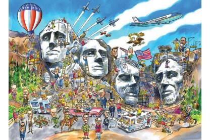 Cobble Hill 53503 - DoodleTown - Mount Rushmore - 1000 db-os puzzle - Értékcsökkent