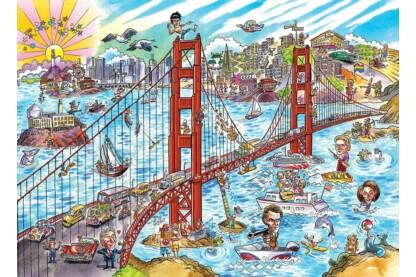 Cobble Hill 53504 - DoodleTown - San Francisco - 1000 db-os puzzle