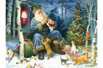 Cobble Hill 54588 - Old World Santa - 400 db-os Family puzzle