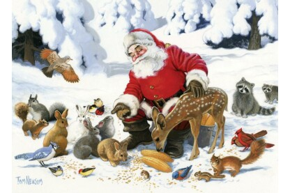 Cobble Hill 54605 - Santa Claus and Friends - 350 db-os Family puzzle