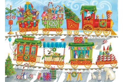 Cobble Hill 54608 - Christmas Train - 350 db-os Family puzzle
