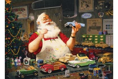 Cobble Hill 80046 - Santa Painting Cars - 1000 db-os puzzle
