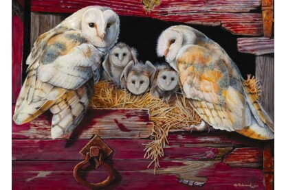 Cobble Hill 80052 - Barn Owls - 1000 db-os puzzle