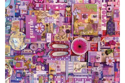 Cobble Hill 80151- The Rainbow Project - Purple - 1000 db-os puzzle