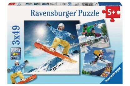 Ravensburger 09287 - Extrém sportok - 3 x 49 db-os puzzle