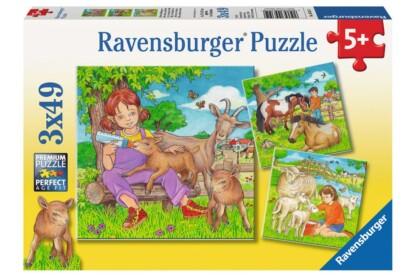 Ravensburger 09351 - A kedvenc állatkáim - 3 x 49 db-os puzzle