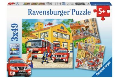 Ravensburger 09401 - Tűzoltóság  - 3 x 49 db-os puzzle