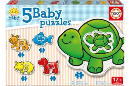 Educa 14864 -  Baby sziluett puzzle - Állatok - Teknőcös - 2,3,4 db-os puzzle