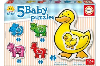 Educa 14865 -  Baby sziluett puzzle - Farm - 2,3,4 db-os puzzle