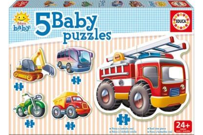 Educa 14866 -  Baby sziluett puzzle - Járművek - 3,4,5 db-os puzzle