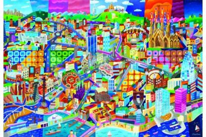 Educa 16001 - Philip Stanton - Barcelona - 1500 db-os puzzle