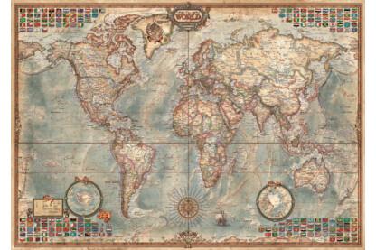 Educa 16005 - Politikai világtérkép - 1500 db-os puzzle