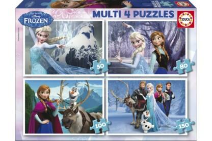 Educa 16173 - Jégvarázs - 4 az 1-ben (50,80,100,150 db-os) puzzle