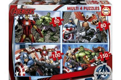 Educa 16331 - Avengers - Bosszúállók - 4 az 1-ben puzzle (50,80,100,150 db-os) puzzle