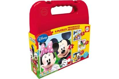 Educa 16505 - Mickey és barátai - 4 az 1-ben puzzle táskában (12,16,20,25 db-os) puzzle