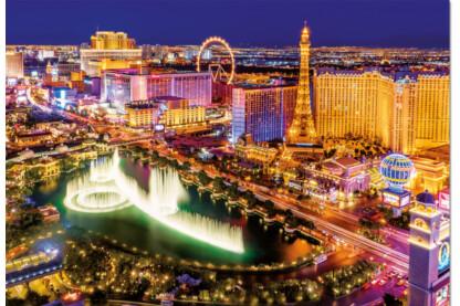 Educa 16761 - Neon puzzle - Las Vegas - 1000 db-os puzzle