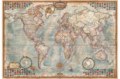Educa 16764 - Miniature puzzle - Politikai világtérkép - 1000 db-os puzzle
