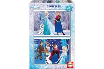 Educa 16852 - Jégvarázs hercegnők - 2 x 48 db-os puzzle