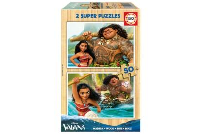 Educa 16950 - Vaiana - 2 x 50 db-os fa puzzle