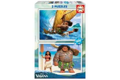 Educa 16953 - Vaiana - 2 x 100 db-os puzzle