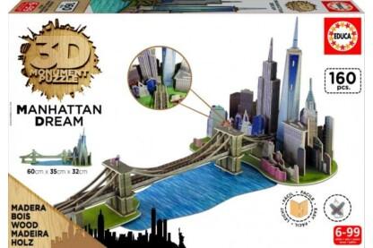 Educa 17000 - Manhattan Dream - 160 db-os 3D Monument fa puzzle