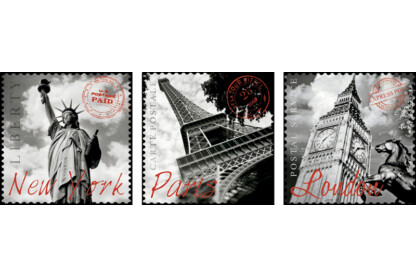 Educa 17096 - Deco puzzle - New York, Párizs, London - 3x500 db-os puzzle