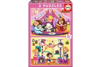 Educa 17148 - Pizsiparti - 2 x 20 db-os puzzle
