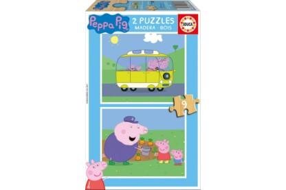 Educa 17156 - Peppa malac - 2 x 9 db-os fa puzzle