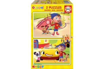 Educa 17161 - Noddy - 2 x 25 db-os fa puzzle