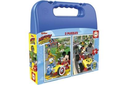 Educa 17639 - Mickey Mouse és barátai - 2 az 1-ben (2 x 20 db-os) puzzle táskában