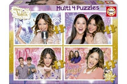 Educa 16190 - Violetta és barátai - 4 az 1-ben (50, 80, 100, 150 db-os) puzzle