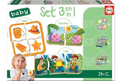 Educa 18123 - 3 az 1-ben - Baby oktató puzzle