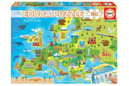 Educa 150 db-os puzzle -  Európa térképe (18607)