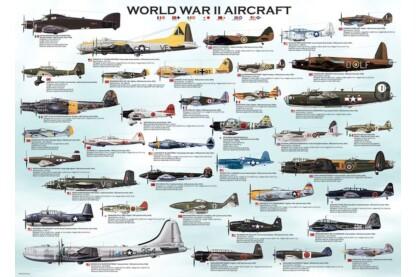 EuroGraphics 6000-0075 - World War II Aircraft - 1000 db-os puzzle