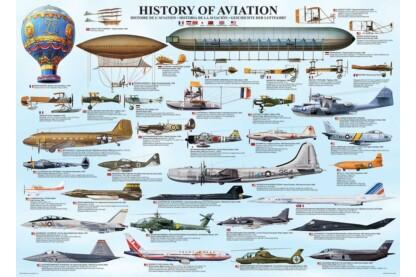 EuroGraphics 6000-0086 - History of Aviation - 1000 db-os puzzle