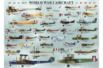 EuroGraphics 6000-0087 - World War I Aircraft - 1000 db-os puzzle
