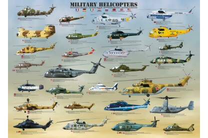 EuroGraphics 6000-0088 - Military Helicopters - 1000 db-os puzzle