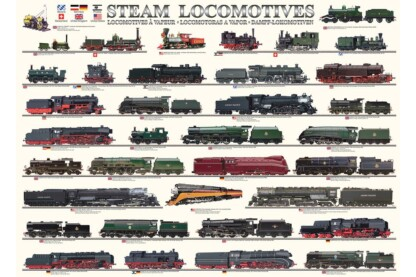 EuroGraphics 6000-0090 - Steam Locomotives - 1000 db-os puzzle