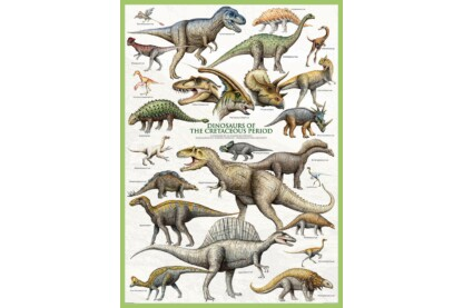 EuroGraphics 6000-0098 - Dinosaurs of the Cretaceous - 1000 db-os puzzle