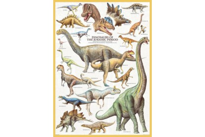 EuroGraphics 6000-0099 - Dinosaurs of the Jurassic - 1000 db-os puzzle