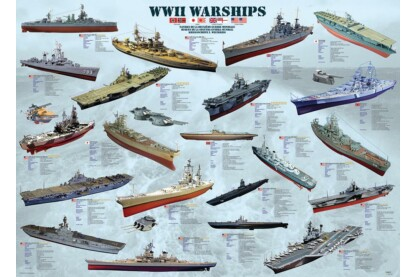 EuroGraphics 6000-0133 - WWII Warships - 1000 db-os puzzle
