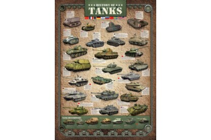 EuroGraphics 6000-0381 - History of Tanks - 1000 db-os puzzle