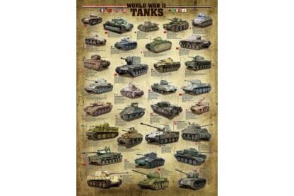 EuroGraphics 6000-0388 - World War II Tanks - 1000 db-os puzzle