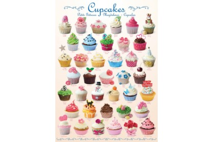 EuroGraphics 6000-0409 - Cupcakes - 1000 db-os puzzle